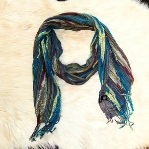 Maurices scarf multicolored teal purple